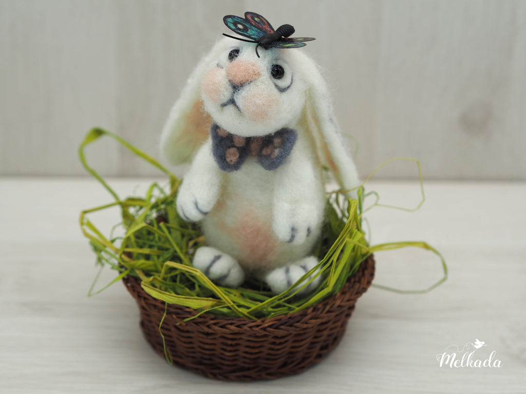 Needle felted Bunny, Cute bunny, Rabbit decor
