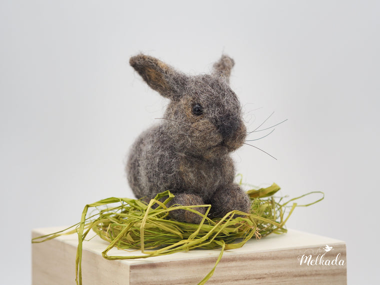 Needle felted Cottontail Rabbit, Baby bunny