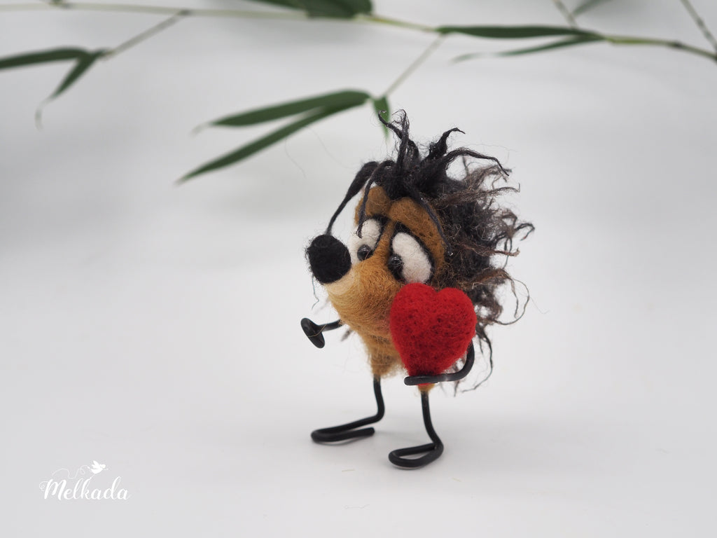 Cute mother's day gift, felted hedgehog figurine