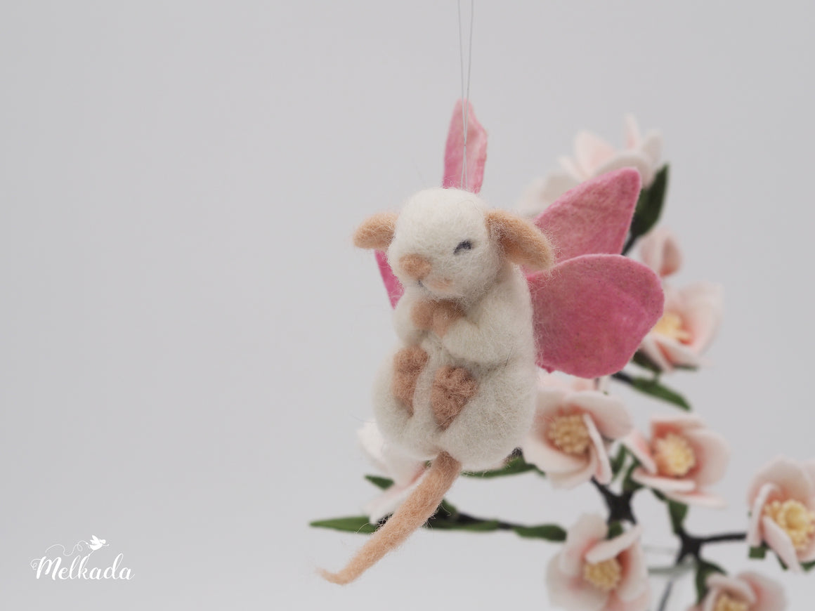 Needle felted mouse, Felted sleeping mouse, Fairy mouse