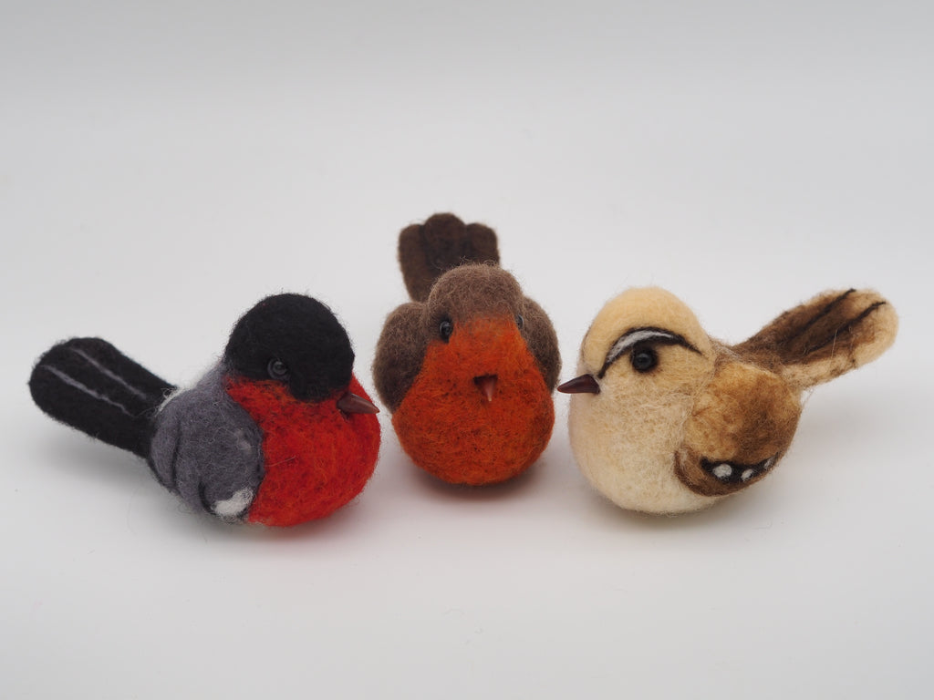 Bullfinch - Needle felted bird - bird decoration