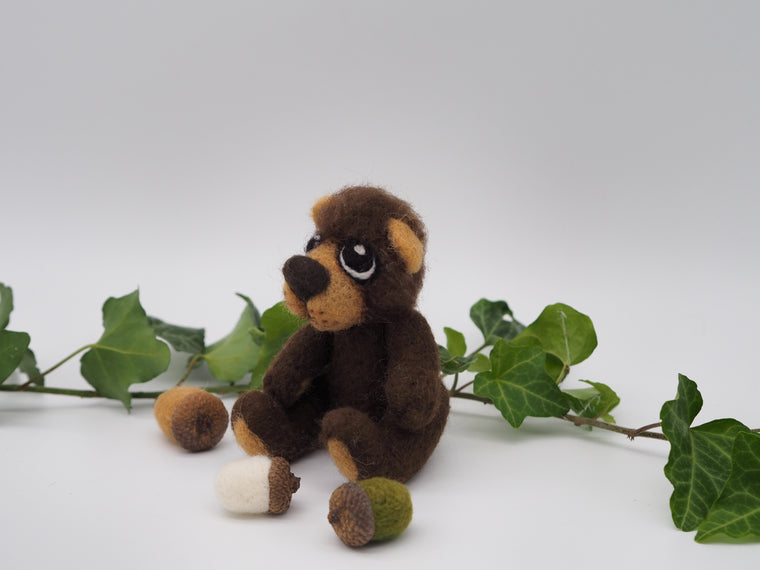 Bears - collectible bear, needle felted animal