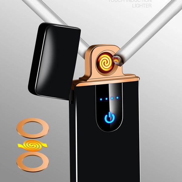 RECHARGEABLE USB LIGHTER FINGERPRINT TOUCH SENSOR