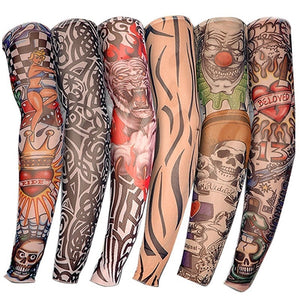 6 PCS New Nylon Elastic Tattoo Sleeve Design
