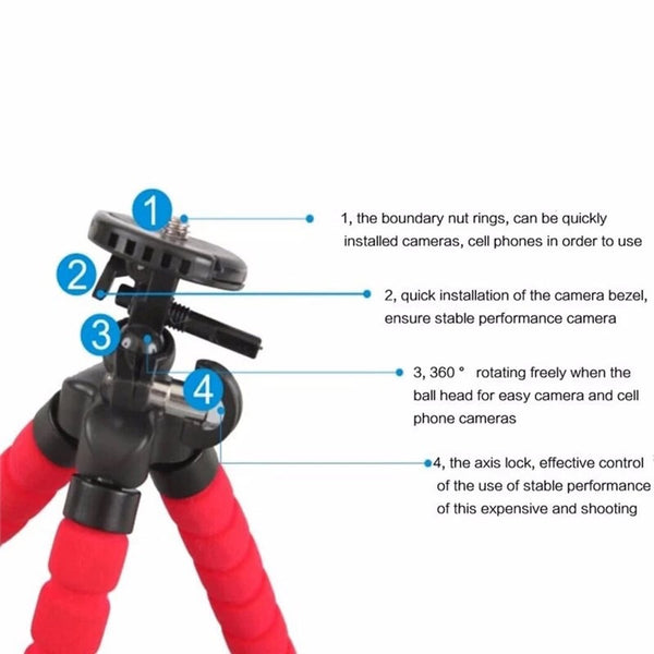 """BENDY"" TRIPOD FOR PHONES, CAMERAS, & TABLETS"