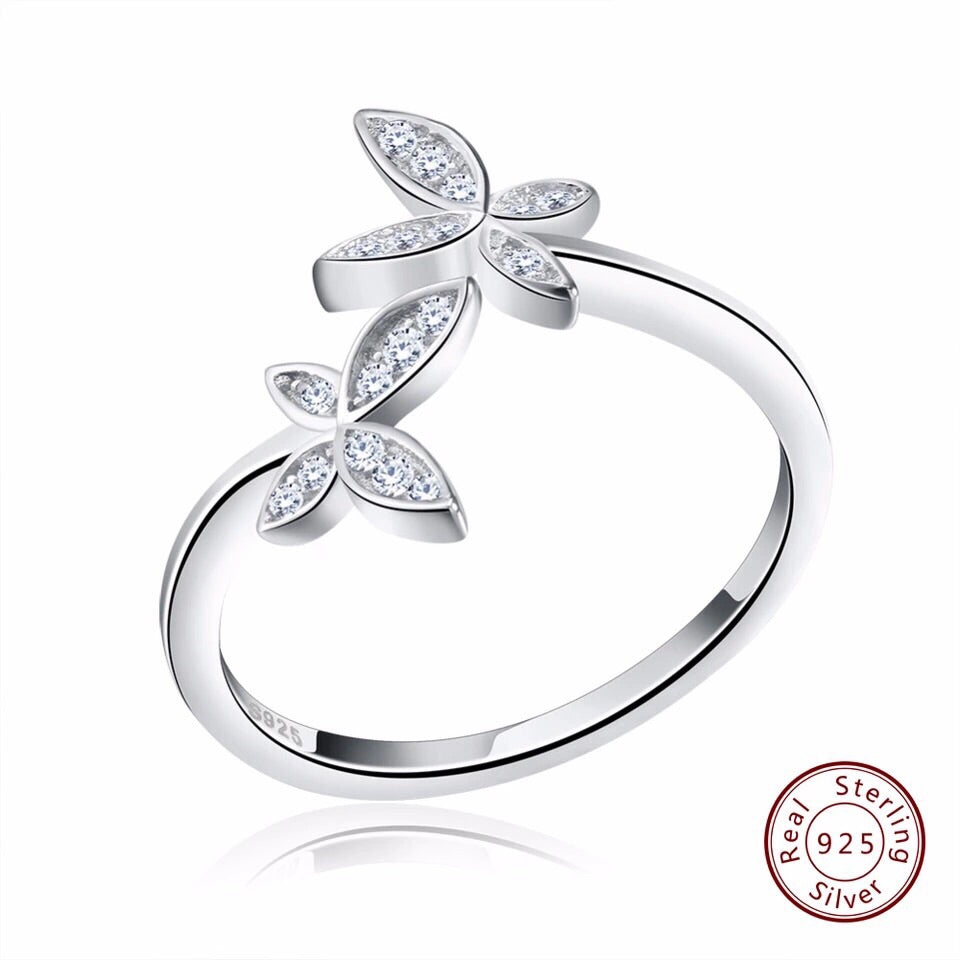 FASHION STERLING SILVER RING - CUBIC ZIRCONIA STONE