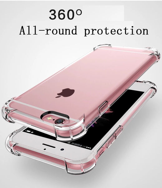 ClearX Shockproof TPU Transparent Phone Case