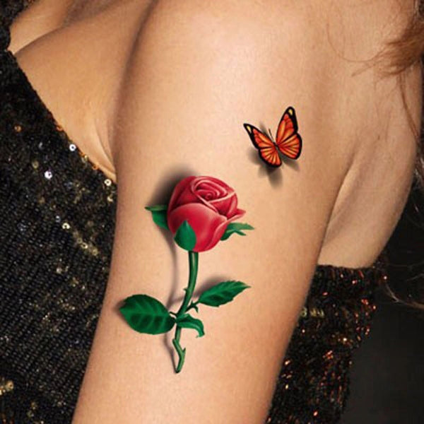 3D Tattoo Rose