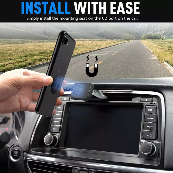 360° Magnetic Phone Holder for CD Slot/Air Vent