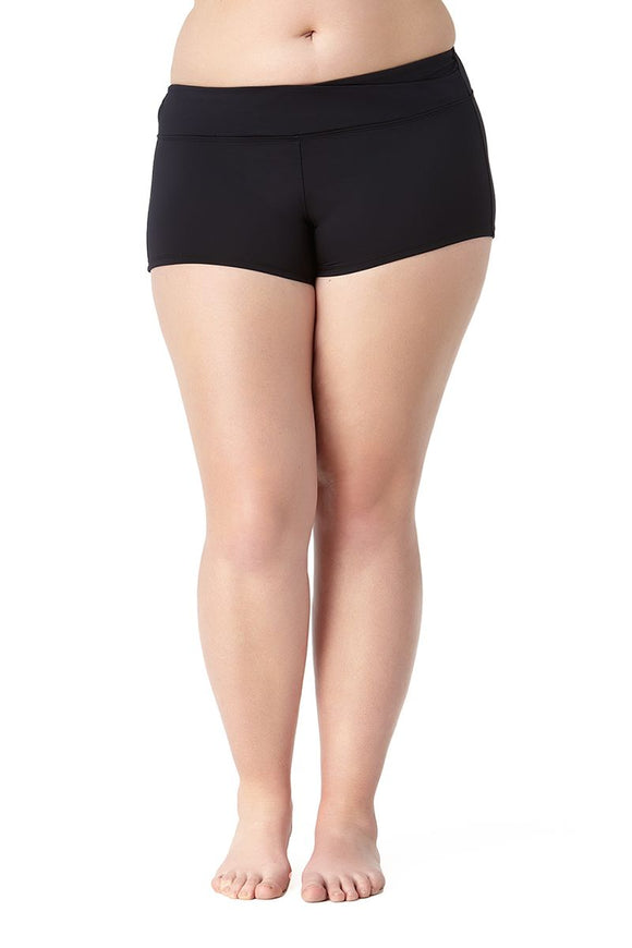 Twisted Front Swim Short Bottom