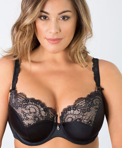 Tulip Lace Bra - Black