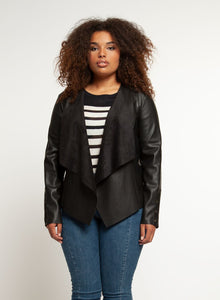 Jacket w/lace-up cuffs