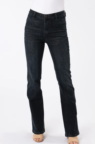 Boot Cut Jean - Dark Denim