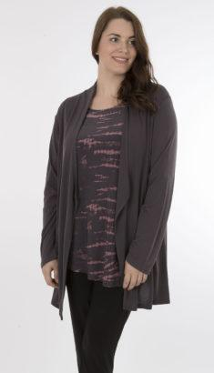 Draped Open Cardigan with Pockets