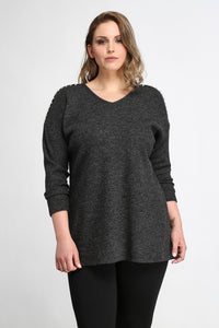 Pearl Shoulder Sweater