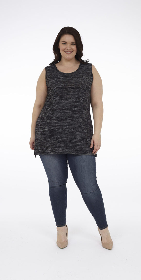 Sleeveless Top with Side Slits