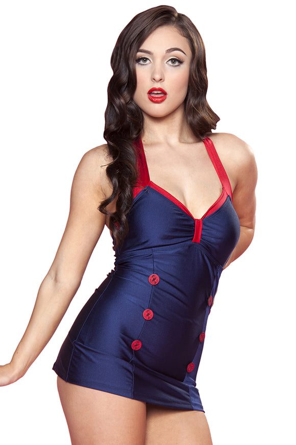 Nautical Sheath Swim - Size 22