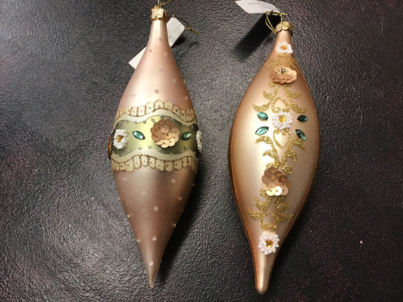 Seasonal Teardrop Ornament