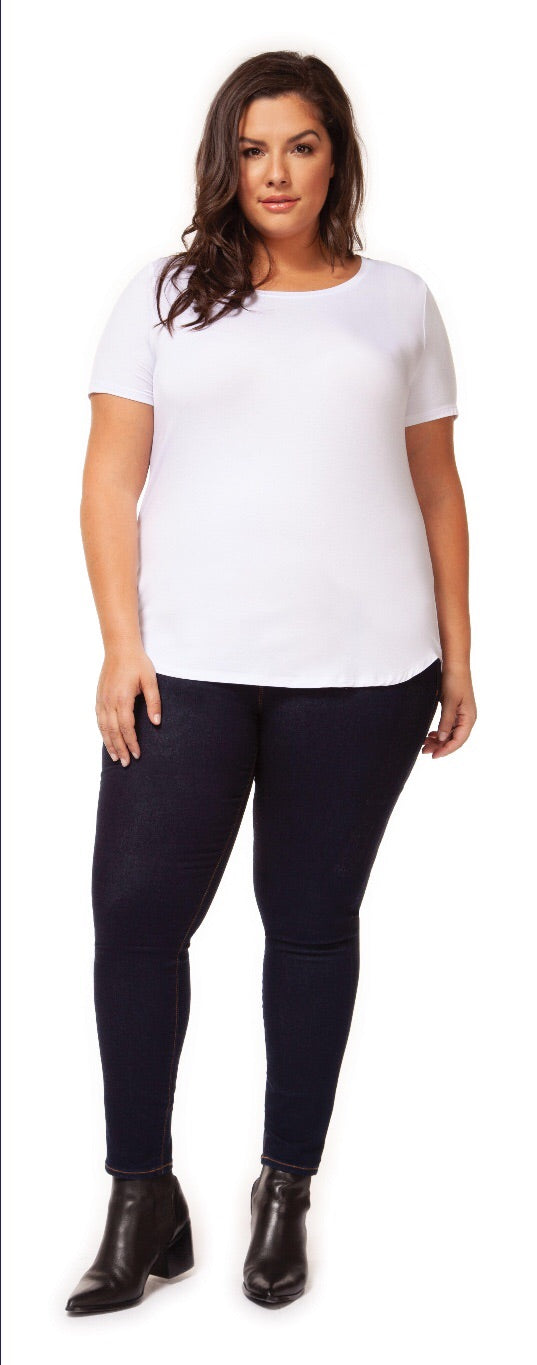 Scoop Neck T-Shirt - Size 1 X