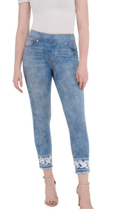 Luxe Denim Slims Embroidered Skinny Jeans