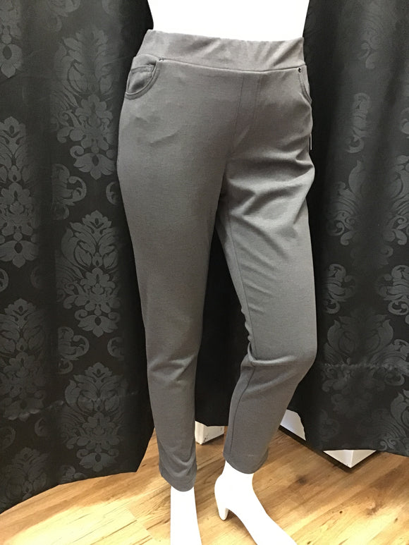 Pull On Jeggings - Heather Grey