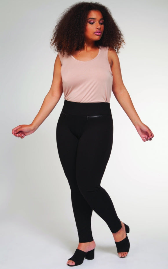 Legging with Front Zippers