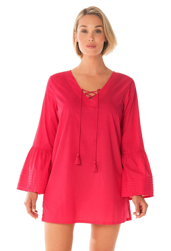 Cotton V-Neck Tunic