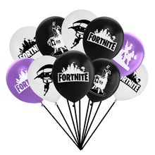 Video Game Party Balloons Supplies Colors Purple Black White -24Pcs