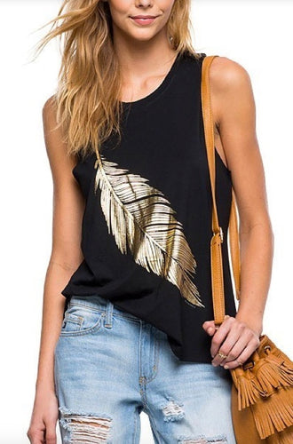 Gold Foil Feather Tank