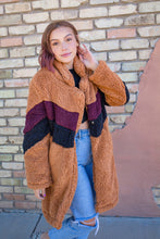 TEDDY BEAR COAT | retro chevron