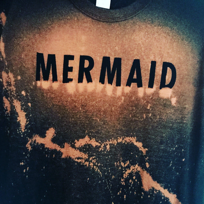 Mermaid distressed T shirt women's, unisex T