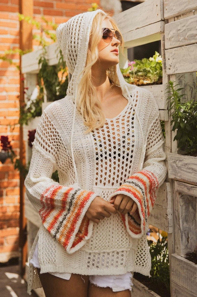 SUNSET HOODIE | summer crotchet sweater