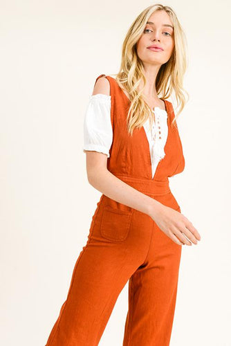 GEMA A-LINE OVERALLS | wide leg pocket jumpsuit
