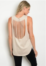 ROCK AND ROCK TANK   | cut out back women's tank