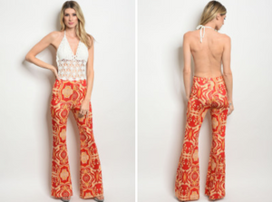 IVORY RED PRINT JUMPSUIT