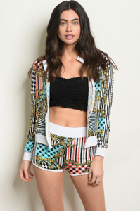 VIVA LAS VEGAS TOP & SHORTS SET | jacket and short set