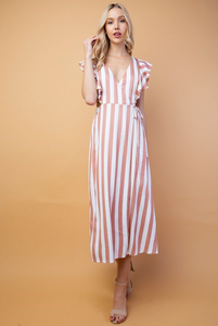 TIE ONE ON | midi wrap dress