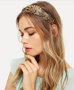 Metal Leaf Headband