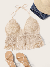 CROTCHET FRINGE | halter top