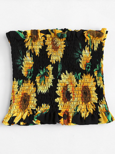 SUNFLOWER FLORAL | shirred tube top