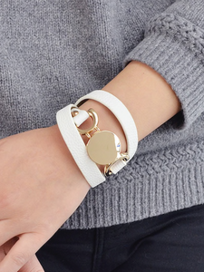 WRAPPED AROUND YOU | white wrap bracelet