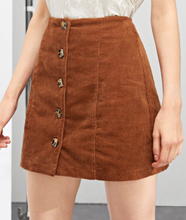 BUTTON UP | corduroy skirt