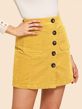 MELLOW YELLOW | cord skirt