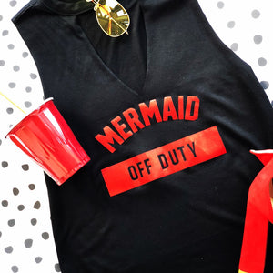Mermaid Off Duty - Shimmer  - Women's Tank And Cropped Tee