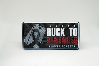 Ruck To Remember- FlexStyle Heat Transfer Emblem Decal