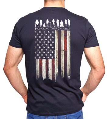 Heroes Flag Enduring Their Sacrifice T-Shirt in Graphite