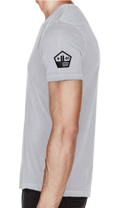 Active Gray Poly Short-Sleeve Shirt OEW Mask - Sweat-Wicking Breathable