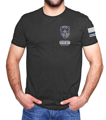 Task Force Sentinel Graphite T-Shirt with Heroes Flag on Back