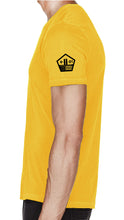 Active Yellow Poly Short-Sleeve Shirt OEW Yellow Mask - Sweat-Wicking Breathable