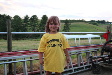 Warrior in Training Yellow  Kids T-Shirt OEW
